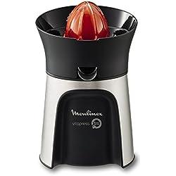 Moulinex Vitapress Direct Serve PC603D10 Exprimidor, Directamente en el Vaso, 3 Conos para Limones, Naranjas, Pomelos, 100 W, plástico, Acero Inoxidable