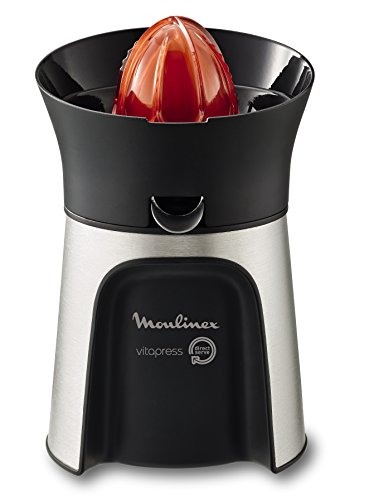 Moulinex PC603D10 - Spremiagrumi Vitapress Direct Serve a 3 coni Grigio Metallizzato/Nero 100 W