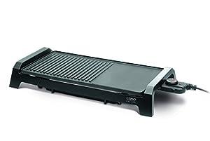 Caso 2830 BQ2200 LowFat-Tischgrill mit Grill und Bratfläche, Leistung 2200 W
