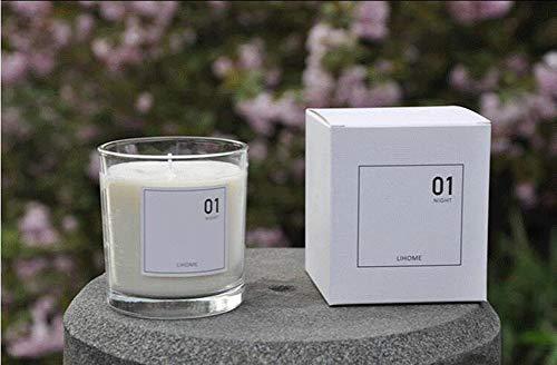 Syndecho Vela aromática de Cristal de Cera de Soja Natural Vela aromática Tarro Vela Regalo aromaterapia Relax Vela