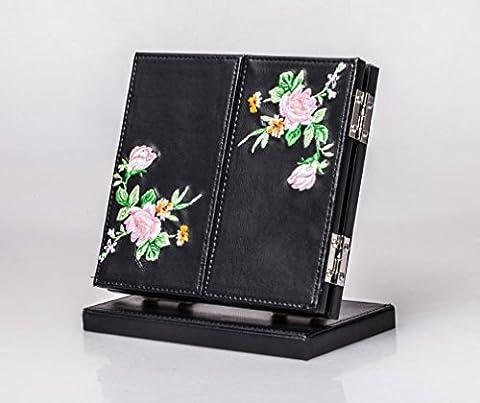 Meylee Leather Tri-Fold Vanity Table maquillage miroir mode comptoir réglable pliante portable miroir Home décoration pour Make Up