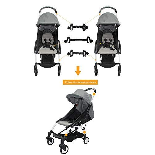 Juman634 Conectores de Cochecito de bebé para Gemelos Ajustable Fácil Instalación Conector de Cochecito...