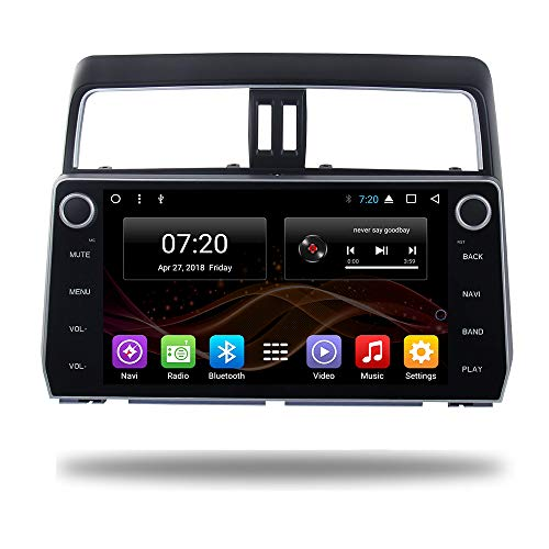 2.5D IPS Android 8.1 Octa Core Car DVD Radio GPS Navigation for Toyota Prado 2018 Stereo Audio Navi Video with Bluetooth Calling WiFi Touch Screen (Android 8.1 4/64G for Toyota Prado 2018)
