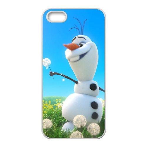 La reine des neiges olaf design durable tPU pour apple iPhone 5/5S, iPhone 5S, iPhone 5/5S coque case (noir/blanc)
