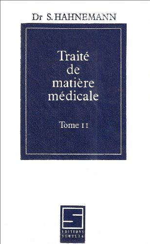 Traité de matière médicale, tome 2 par S. Hahnemann