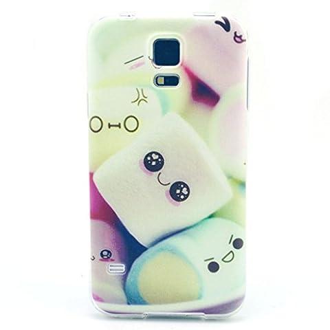 Fenrad®TPU Housse Etui Coque Samsung Galaxy S5 Mini - Silicone Étui Housse Protecteur pour Samsung Galaxy S5 Mini case cover avec motif mignon de bande dessinée Pattern-style-5
