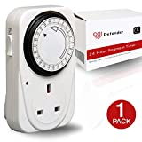 Defender 24 Hour Segment Timer Switch - Energy Saver Plug Standard Size