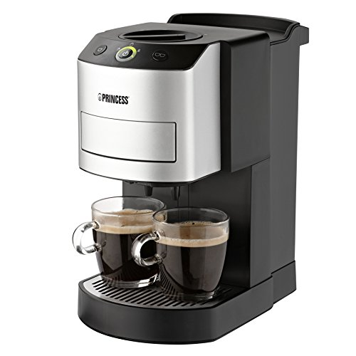 Princess 242800 - Cafetera con capacidad de 1 l, color plateado