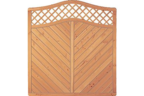 Sichtschutzzaun Holz Douglasie Bogen 180 x 180/190 cm (Serie: Doben)