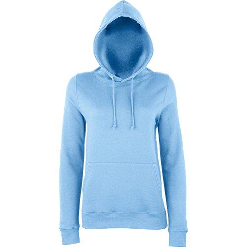 Awdis Hoods Ladies Girlie College Hoodie Turquoise Sky Blue