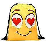 Produp Damenmode Schultern Kleiner Rucksack Rucksack Lagerung Bundle Seil Lustige Niedliche Muster Einkaufskordelzug Reisetasche Handtasche