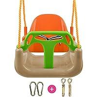 JTYX 3 en 1 niños Silla de Columpio Hamacas en casa al Aire Libre en el Interior Asiento de bebé Juguete para niños Sillas de Hamaca espaciales Grandes,Orange,indoorpackage