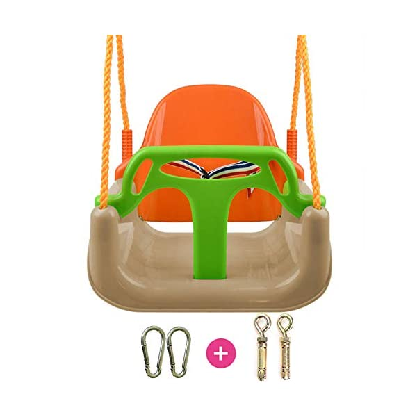 JTYX 3 in 1 Children Swing Chair Indoor Outdoor Home Hammocks Baby Seat Child Toy Large Space Hammock Chairs JTYX Strong carrying capacity: sturdy and durable, bearing capacity up to 120kg, ensuring stable swing.. Rugged and durable: high temperature resistance, fading resistance, ensuring safe use.. Versatility: Through these swings, you can inspire your child's ability to balance and promote balance while bringing happiness and total relaxation.. 1