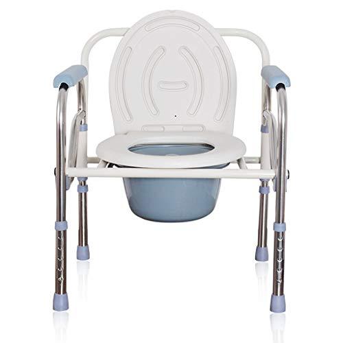 TYUIO Heavy Duty Drop Arm Bariatrische Kommode |Nachttisch Toilettenstuhl mit Armlehnen und Bad Sicherheitsrahmen für ältere Menschen, Erwachsene |Einstellbare Sitzhöhe, extrabreit, 500 lbs