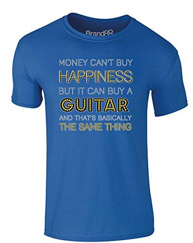 Brand88 - Money Can Buy A Guitar, Erwachsene Gedrucktes T-Shirt Königsblau