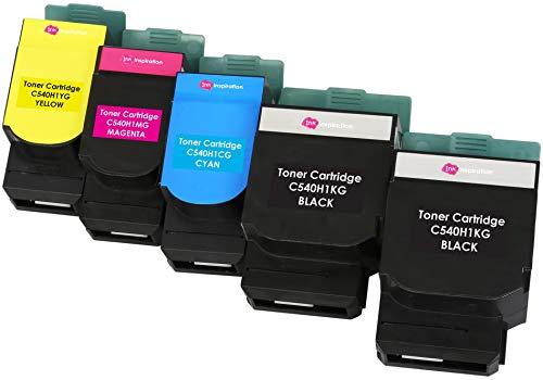 r kompatibel für Lexmark C540n, C543dn, C544dn, C544dtn, C544dw, C544n, C546dtn, X543dn, X544dn, X544dtn, X544dw, X544n, X546dtn | Schwarz 2.500 Seiten & Color je 2.000 Seiten ()