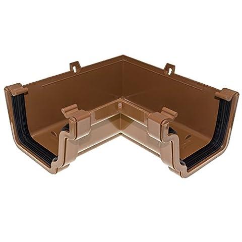 Caramel Eurocell RWKA3 Marshall Tufflex Conservatory 90° Gutter Internal Corner Ogee Connector Joint