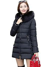 NiSeng Mujer Abrigo Chaqueta Slim Fit Espesar Pelaje Collar Parka Con  Capucha Manga Larga Chaquetas Outerwear d9e115b332cd