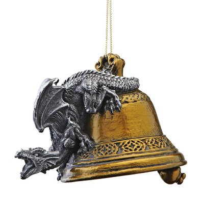 Design Toscano Humdinger the Bell Ringer Gothic Dragon 2011 Holiday Ornament - Set of 3