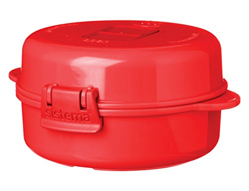 $ Sistema 1117*DISP Microwave Cuociuova, Polipropilene, 27 cm, Rosso lista dei prezzi