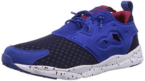 Reebok Furylite, Chaussons Sneaker Homme Bleu (Collegiate Royal/White/Bing Cherry/Navy)