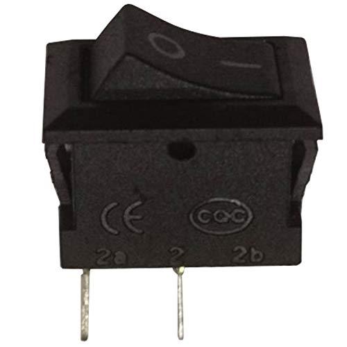Schwarz Rocker Switch (Mini SPST Latching Rocker Switch 1Circuit Schwarz On-Off-9x 14mm)