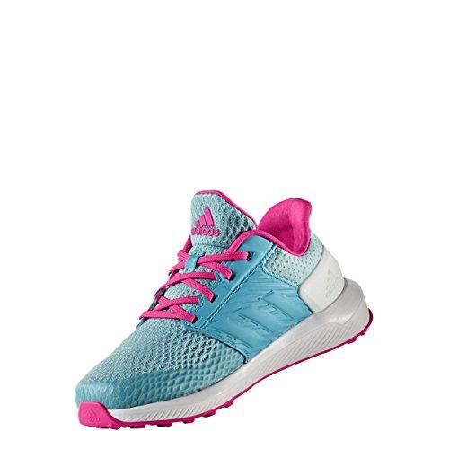 adidas Rapidarun K, Chaussures de Tennis Mixte Enfant Bleu (Azuene/rosimp/mensen)
