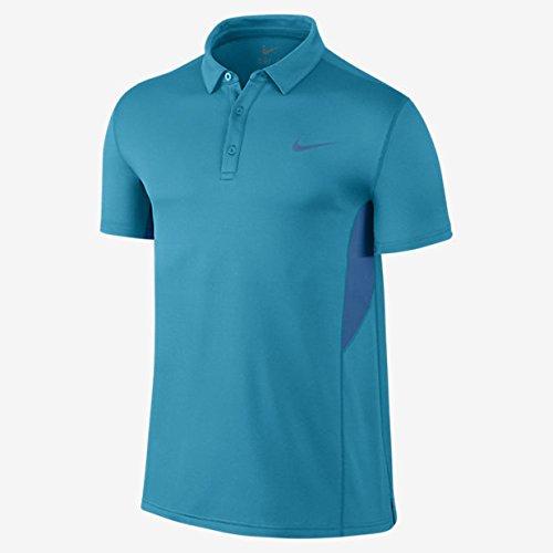 Nike Herren Spring Sphere Court Pro Player Tennis Polo Shirt, Blau, Klein (Pro-player-bekleidung)