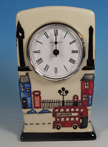 A Moorcroft Londinium London Landmarks Mantel Clock By Nicola Slaney Shape Cl1