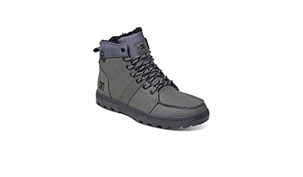 DC ShoesWoodland - Stivali a Metà Polpaccio con Imbottitura Leggera Uomo, Grigio (Grigio), 8.0