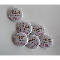 Badges EVJF Accessoire Organisation Evjf Mariage Or et Rose.