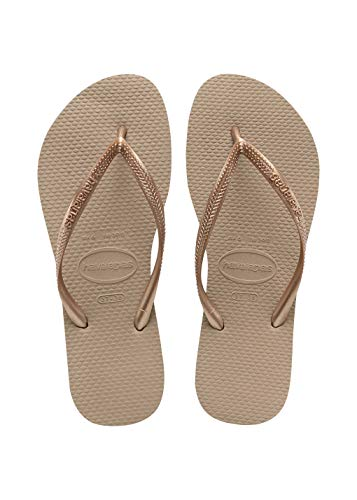 Havaianas Slim Infradito Unisex – Adulto, Marrone (Rose Gold 3581), 37/38 EU (35/36 Brazilian)