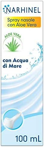 NARHINEL Spray Nasale con Aloe Vera, Soluzione Isotonica di Acqua di Mare (0,9% di Sali) Senza Conservanti Ind