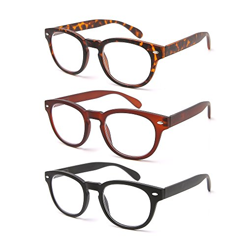 02a6ee7256 QDOS 3-Pack_Reading Glasses Crystal Clear Vision WHEREVER You Need It!  _Matte Finish for