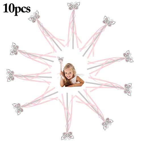 Joyibay 10PCS Feenstab Dekorative Party Supplies Magic Princess Wand Für Kinder Mädchen
