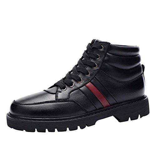 WALK-LEADER , Herren Stiefel, schwarz - schwarz - Größe: (Stiefel Heel Camo High)