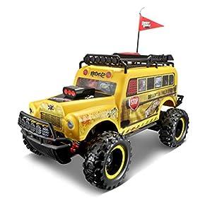 Maisto 582077Tech R/C Desert Rebels School Bus: kstarz-Toys-Todoterreno teledirigido (Escala 1: 10, con Tacos Neumáticos y empuñadura de Pistola de Control, 43cm Amarillo
