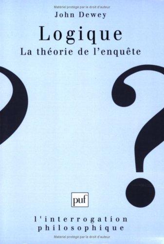 Logique : La théorie de l'enquête