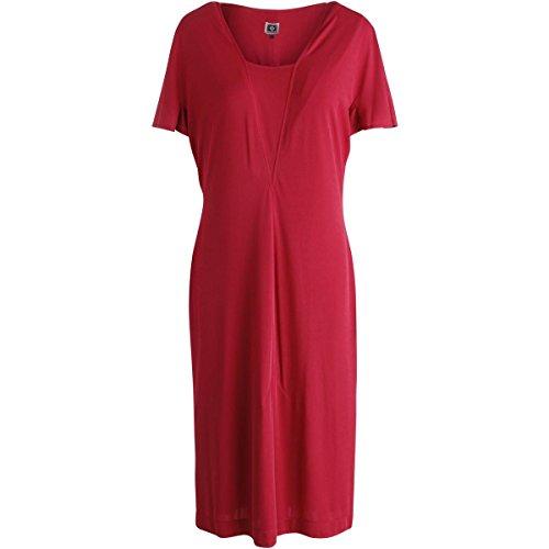 Anne Klein-jersey (Womens Matte Jersey Flutter Sleeves tragen zum Arbeitskleid rot 16)