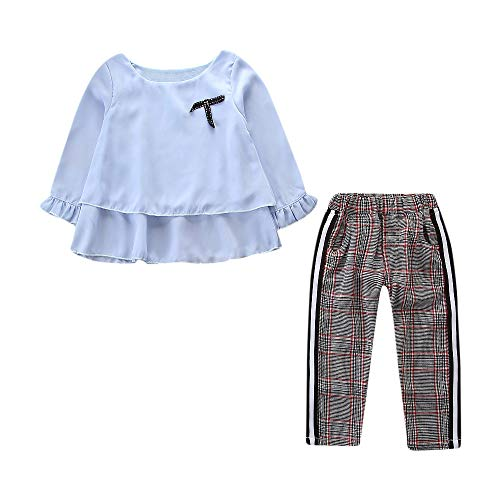Oyedens College-Set Mädchen Kinder New England Plaid Pants -