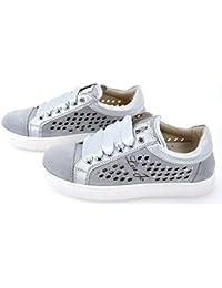 Liu-Jo Girl Scarpa Sneaker Bambina Ragazza Metallo Grigio Art. B22179A 2b0c7676c60