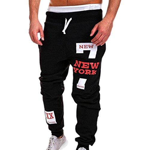 ❉Homme Pantalons De Sport Pantalons De Jogging Pantalons De Yoga Legging Sport Leggings De Compression Pantalons De Survêtement Musculation Élastique Pantalons Décontractés GongzhuMM (SEXY ROUGE, 3XL)