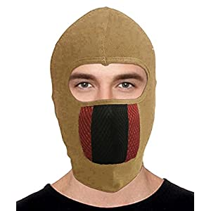 Hi-Life Pro Full Face Bike Riding Mask Dust Protection, Anti Pollution (Beige)