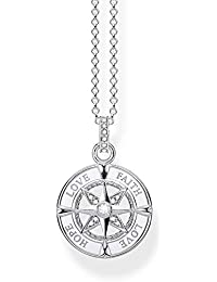 THOMAS SABO Damen Kette Kompass Glaube, Liebe, Hoffnung 925er  Sterlingsilber KE1849-051- 6ec3f59c01