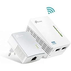 TP-Link TL-WPA4220 KIT AV600 WLAN N300 Gigabit Powerline Netzwerkadapter (10/100Mbit/s-LAN-Ports, Wi-Fi Clone, Plug und Play, 2er Set)