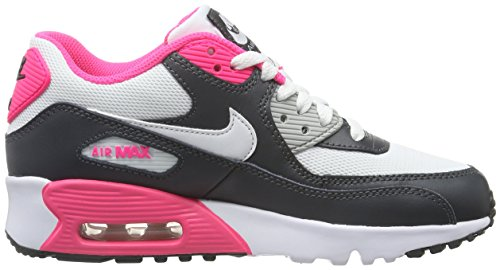 Nike Air Max 90 Mesh (GS), Chaussures de Sport Fille Noir - Negro (Negro (Anthracite / White-Hyper Pink))