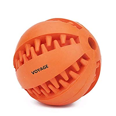 Voyage Natural Rubber Dog Toy Balls (2.8in), Bite Resistant Pet Exercise Game Ball, Chew Training Tooth Cleaning Ball (Blue) by Voyage
