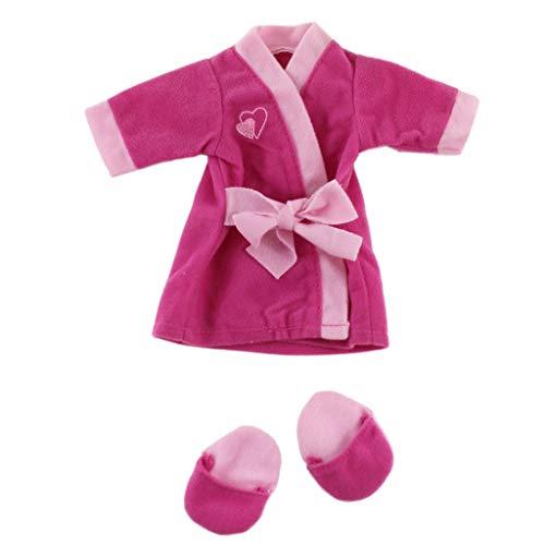 Homyl Modepuppe Kleidung Pyjamas Strampler Hausschuhe Outfits für 14 Zoll Amerikanische Mädchen Puppen - A
