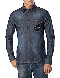 Amazon.fr   Philipp Plein - T-shirts, polos et chemises   Homme ... c1067d0b8b71