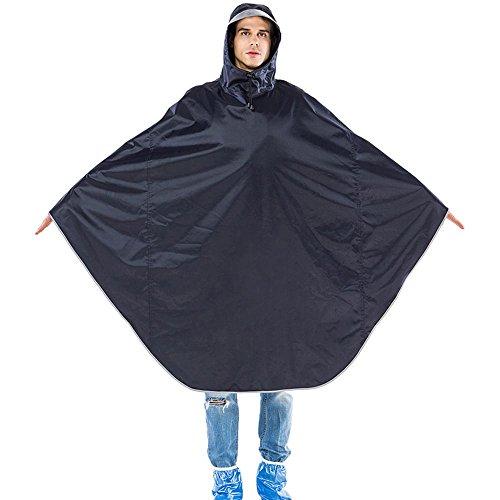 QFFL Imperméable Transparent Chapeau de Bouche sans Couture Poncho Adulte Lâche Unique imperméable Raincoat 2 Couleur en Option XXXL imperméable